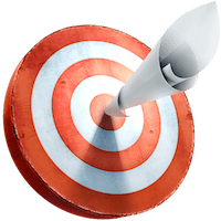 Resume target with paper in bullseye