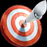 Resume target with paper in bullseye